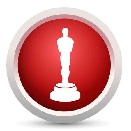 premios: Icono de premio oscar Vectores