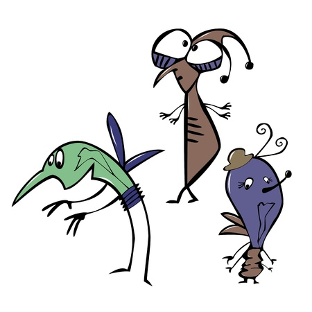 stick insect: Cartoon insects bug