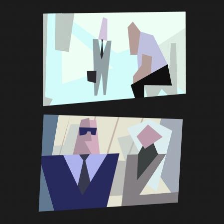 irritate: cartoon vector illustration of office life Illustration