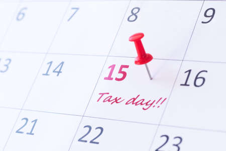 Tax payment day. Deadline, calendar.