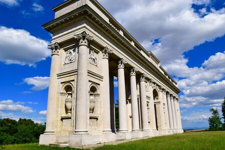 colonnade: The Colonnade Reistna can be found about 2 km south-east of Valtice. Stock Photo