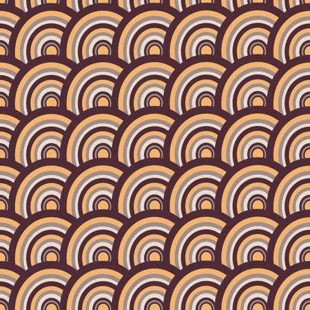 Seamless vector background of circles. Abstract wavy seamless pattern can be used for surface textures, cards, banners, posters and web pages.