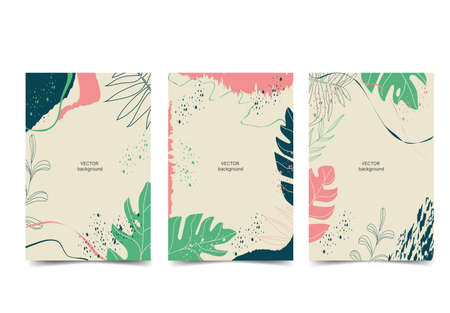 Seta Template Modern trendy art cards. Design for covers, invitations, posters, brochures, posters, cards, flyers. Vector illustration Ilustración de vector