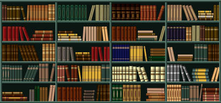 Bookshelf. A large bookcase in a library, a store with many different books. Background from books.