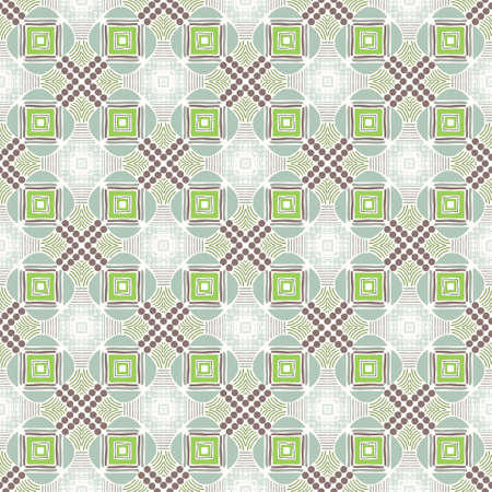 Spring vibes tiles with shades of light green and brown