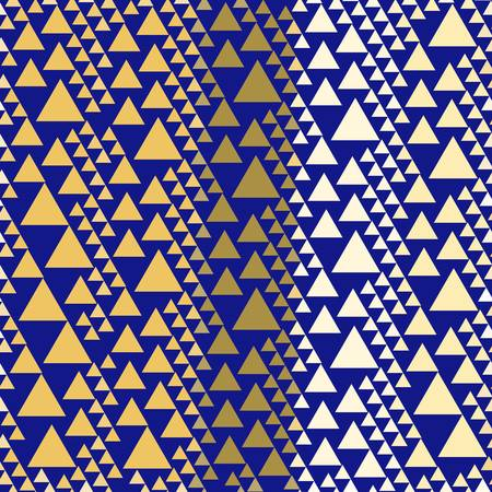 Holiday Golden Triangles on Navy Bold Geometrics. The light gold hue evokes sophisticated luxury and is a source of understated glamour. Add a subtle touch of shimmer to your home, designs, gifts wrap.