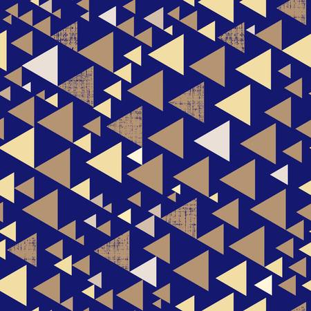 Holiday Golden Triangles on Navy Bold Geometrics. The light gold hue evokes sophisticated luxury and is a source of understated glamour. Add a subtle touch of shimmer to your home, designs, gifts wrap