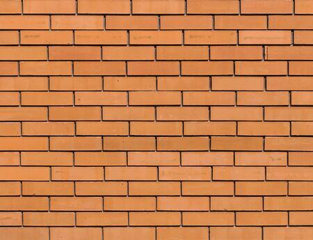 Muro di mattoni arancione rosso per texture di sfondo