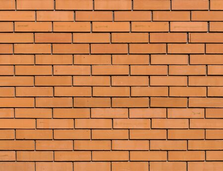 Red orange brick wall for background texture