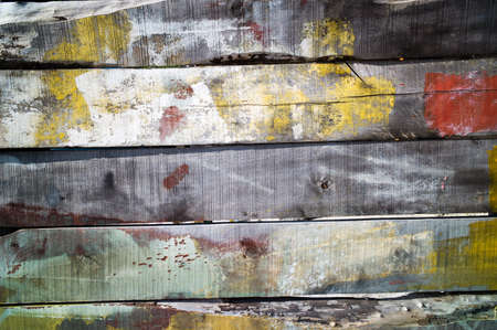 Old vintage wood-planked boards