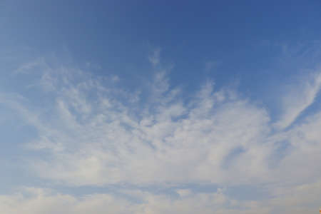 white clouds spreading in the opened blue sky, free clouds images