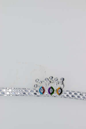 Crystal Silver stylish anklet design isolate background