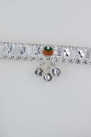 color Painting design crystal Silver Alloy fancy Anklet For Girls and woman , Anklet jewelry