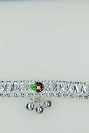 multicolor painting pure silver new anklet design for Women & Girls, anklets design