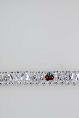 Fancy Heart shape Crystal pure silver anklet design for Women & Girls, anklets jewelery