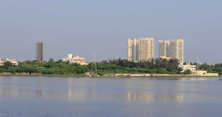 Chennai, Tamil nadu , India . Oct 07,2020.Huge modern new apartment buildings near OMR Road, Chennai city,. India. rental house property 新闻类图片