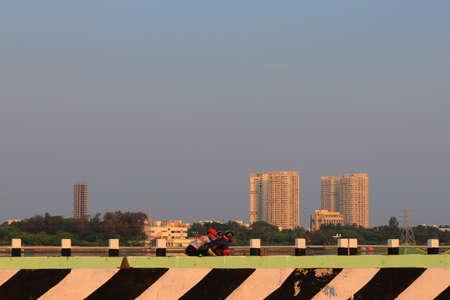 Chennai, Tamil nadu , India . Oct 07,2020. Near the city of being built very big high modern buildings 新闻类图片