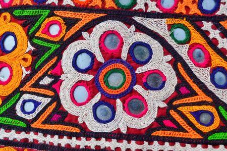 traditional Ukrainian mirror work embroidery close up view,beautiful handmade Ukraine art work embroidery,close up view of cultural Ukraine embroidery