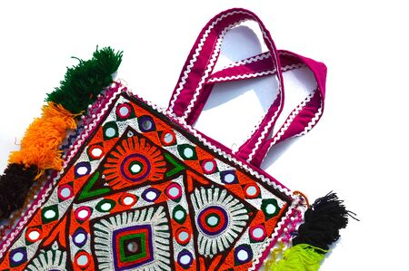 handmade bags,embroidery colorful bags,Pollution free handmade embroidery bag,eco friendly bag on white background,traditional Indian bag
