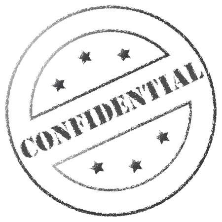 confidentiality: Round grey confidentiality stamp