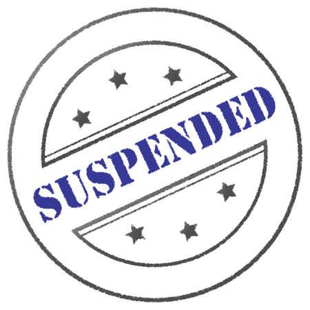 suspension: Round blue-grey suspension stamp