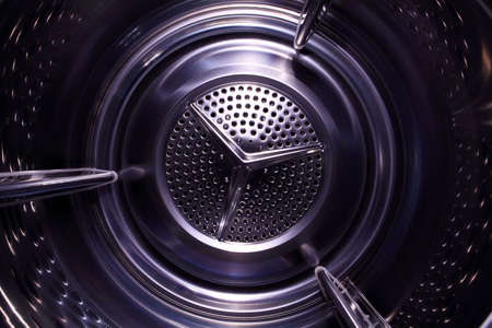 Illusory space inside washingdrying machine photo