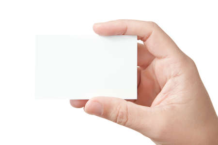 Hand holding blank business card Stock Photo - 7970128