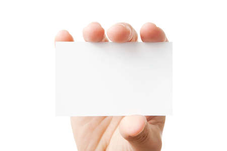 Hand holding blank business card  Stock Photo - 8118665
