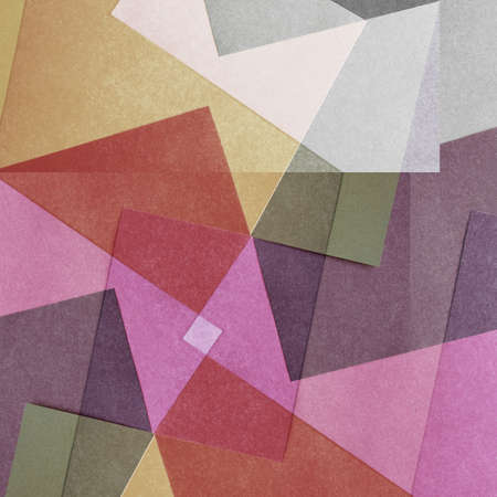 grainy: Grungy and grainy bleached abstract color background, made of intersecting geometric figures, vintage paper texture