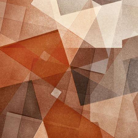 geometria: Fondo de color de abstracta blanqueada grungy y granulada, de intersecci�n figuras geom�tricas, textura de papel vintage en forma cuadrada Foto de archivo