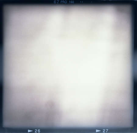 Blank medium format (6x6) film frame with abstract monochrome filling Stock Photo