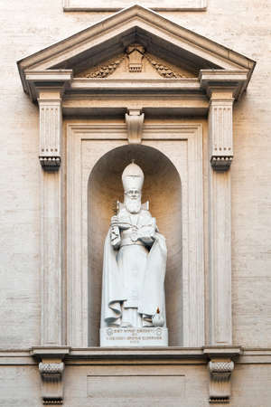 illuminator: Statue of S. Gregorius Armeniae the Illuminator in Vatican, Rome, Italy