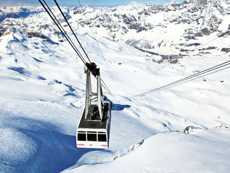 ski lift: Ski lift (gondola) in Alps mountains