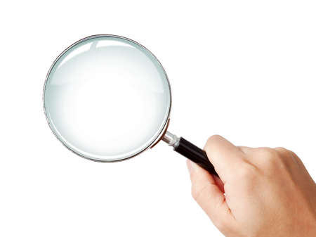 magnifier: Man Stock Photo