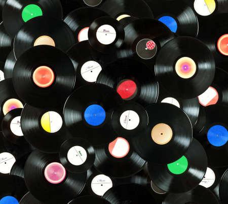 Abstracte muziek kleurrijke achtergrond gemaakt van vintagevinyl records, zijn alle labels niet echt is ontworpen door mijzelf Stockfoto
