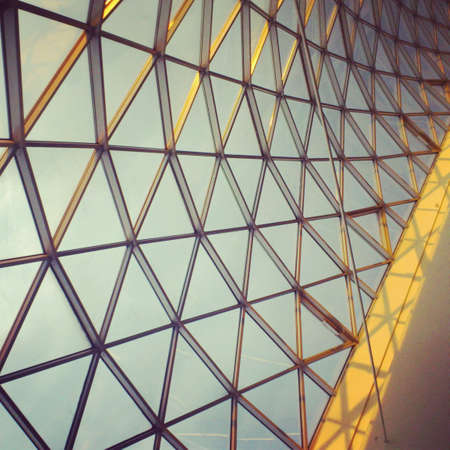 abstract: Architectural detail - glass roof