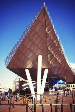 shiny metal: The New England Aquarium in Boston