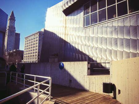 shiny metal: The New England Aquarium in Boston