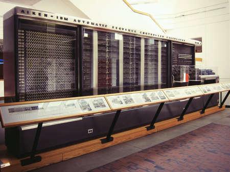 First IBM computer, exposition in Harvard University, Boston