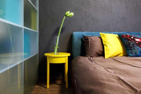 Interior - modern bedroom design in fresh bold colors