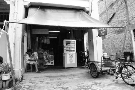 View of an old shop at Malacca Town