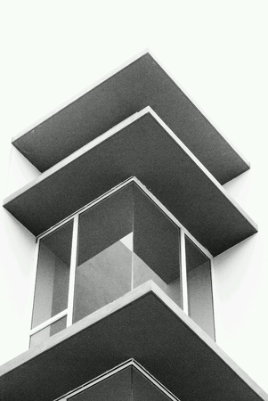 modern: Modern two storey building view in perspective angle
