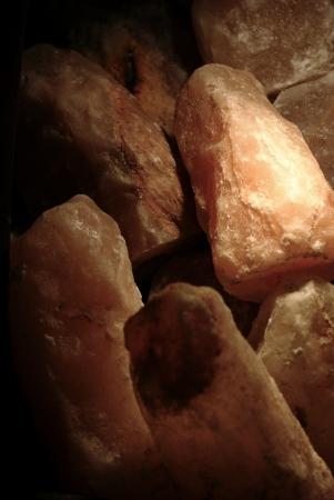 salt lamp: Piles of rock salt lamp