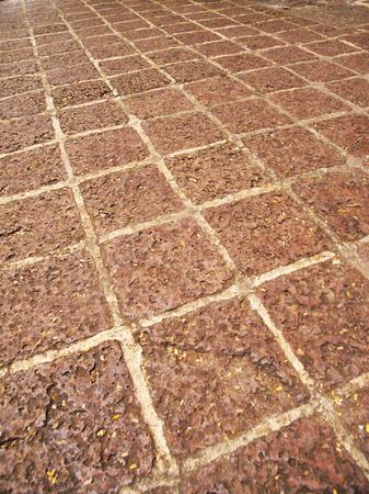 Floor pattern at historical A Famosa fortress Malacca, Malaysia