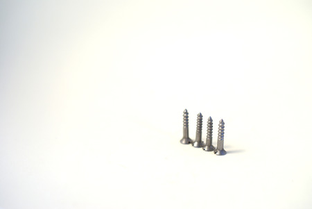Four pieces of wood screws photo