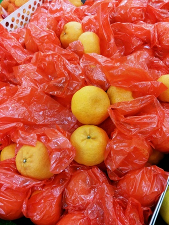 stocked: Mandarin oranges stocked for chinese new year celabration for retail at the market