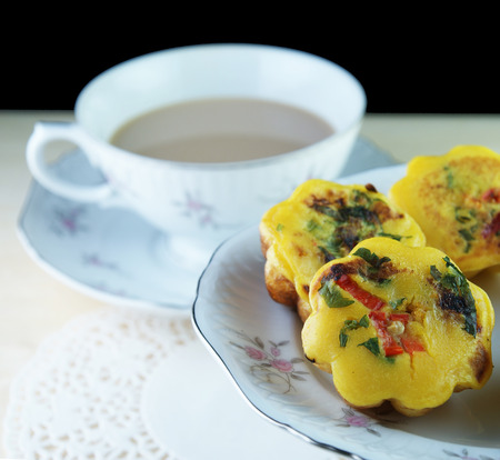 flavoursome: Malay traditional food - Kuih Cara Berlauk with a cup of tea