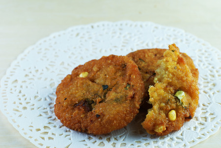 Malay traditional food - Kuih Vadeh, Fried Dhal Beans Cake photo