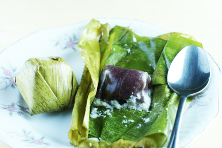flavoursome: Malay traditional food - Kuih Koci or Kochi or Passover Cake with a spoon