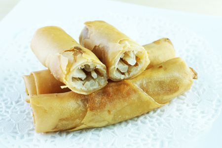 Malay traditional food - Kuih Popia or Fried Popiah or Spring Rolls photo
